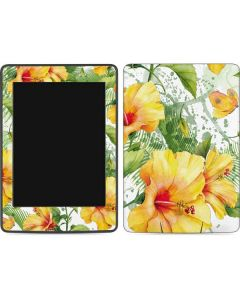 Yellow Hibiscus Amazon Kindle Skin