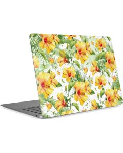 Yellow Hibiscus Apple MacBook Air Skin