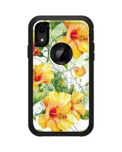 Yellow Hibiscus Otterbox Defender iPhone Skin