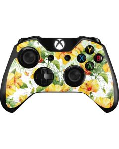 Yellow Hibiscus Xbox One Controller Skin