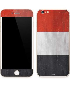 Yemen Flag Distressed iPhone 6/6s Plus Skin
