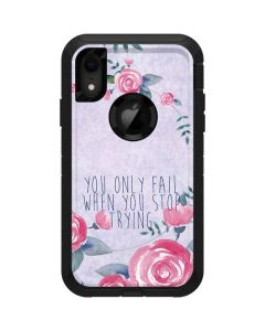 You Only Fail When You Stop Trying Otterbox Defender iPhone Skin
