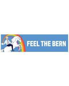 "Feel The Bern Unicorn 11"" x 3"" Bumper Sticker"