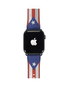 Puerto Rico Flag Distressed Apple Watch Band 42-44mm