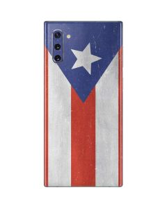 Puerto Rico Flag Distressed Galaxy Note 10 Skin