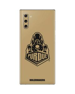 Purdue Gold Signature Logo Galaxy Note 10 Skin