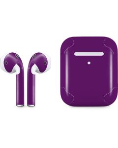 Purple Apple AirPods 2 Skin