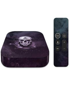 Purple Skull Apple TV Skin