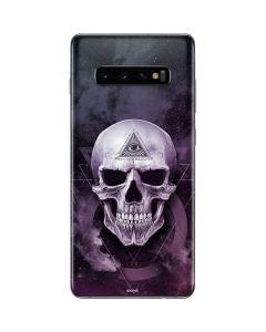 Purple Skull Galaxy S10 Plus Skin