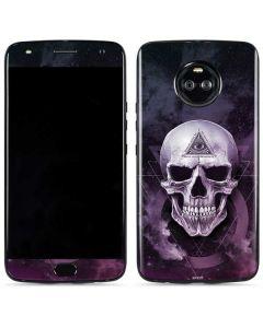 Purple Skull Moto X4 Skin