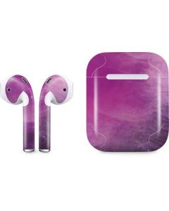 Purple Space Marble Apple AirPods Skin