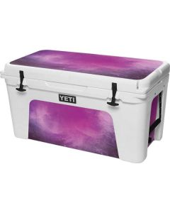 Purple Space Marble YETI Tundra 75 Hard Cooler Skin