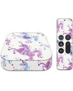 Purple Unicorns Apple TV Skin