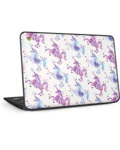 Purple Unicorns HP Chromebook Skin