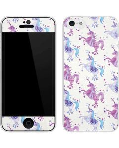 Purple Unicorns iPhone 5c Skin