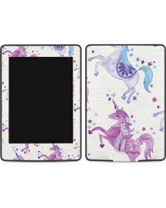 Purple Unicorns Amazon Kindle Skin