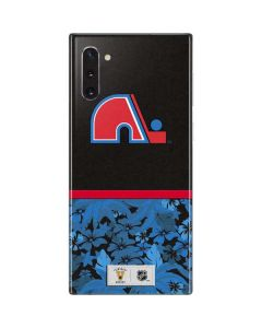 Quebec Nordiques Retro Tropical Print Galaxy Note 10 Skin
