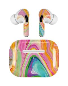 Rainbow Marble Apple AirPods Pro Skin