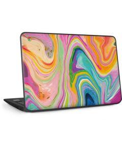 Rainbow Marble HP Chromebook Skin