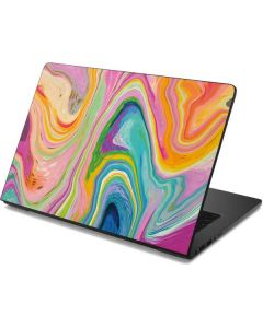Rainbow Marble Dell Chromebook Skin