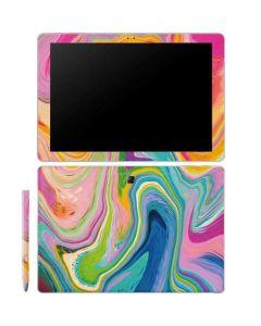 Rainbow Marble Galaxy Book 12in Skin