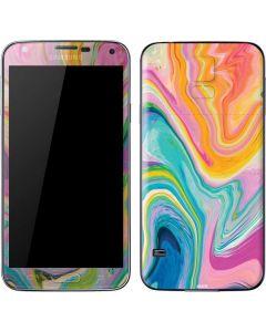 Rainbow Marble Galaxy S5 Skin