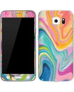 Rainbow Marble Galaxy S6 Skin