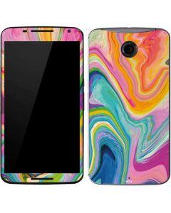 Rainbow Marble Google Nexus 6 Skin