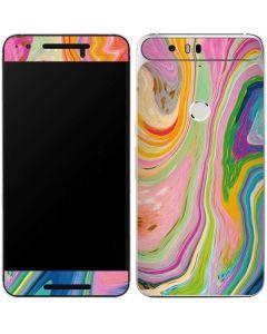 Rainbow Marble Google Nexus 6P Skin