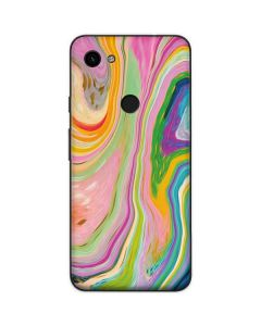 Rainbow Marble Google Pixel 3a Skin