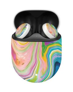 Rainbow Marble Google Pixel Buds Skin