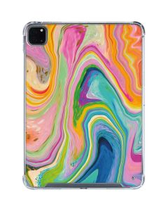 Rainbow Marble iPad Pro 11in (2020) Clear Case