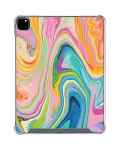 Rainbow Marble iPad Pro 12.9in (2020) Clear Case