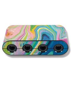 Rainbow Marble Nintendo GameCube Controller Adapter Skin