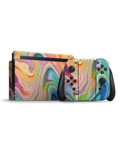 Rainbow Marble Nintendo Switch Bundle Skin