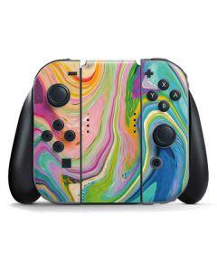 Rainbow Marble Nintendo Switch Joy Con Controller Skin