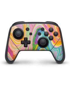 Rainbow Marble Nintendo Switch Pro Controller Skin