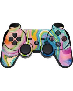 Rainbow Marble PS3 Dual Shock wireless controller Skin