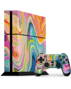 Rainbow Marble PS4 Console and Controller Bundle Skin