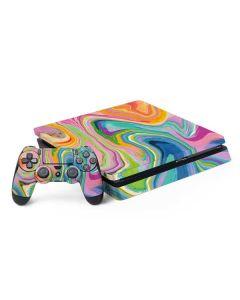 Rainbow Marble PS4 Slim Bundle Skin