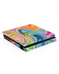 Rainbow Marble PS4 Slim Skin