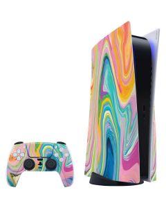 Rainbow Marble PS5 Bundle Skin