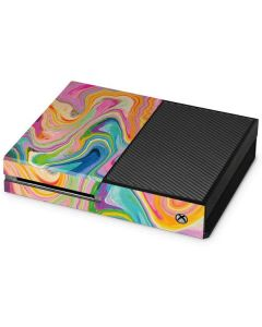 Rainbow Marble Xbox One Console Skin