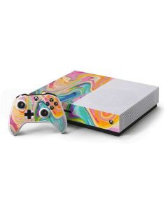 Rainbow Marble Xbox One S Console and Controller Bundle Skin
