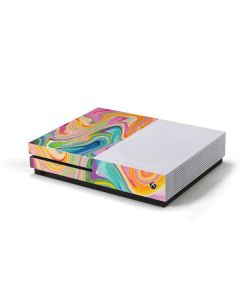 Rainbow Marble Xbox One S Console Skin