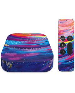 Rainbow Wave Brush Stroke Apple TV Skin