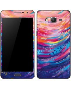 Rainbow Wave Brush Stroke Galaxy Grand Prime Skin