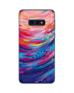 Rainbow Wave Brush Stroke Galaxy S10e Skin