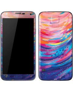 Rainbow Wave Brush Stroke Galaxy S5 Skin