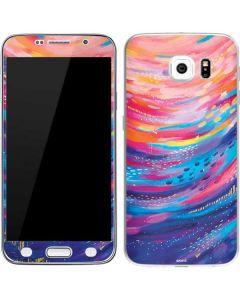 Rainbow Wave Brush Stroke Galaxy S6 Skin
